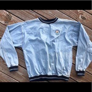 Vintage jean denim sweater